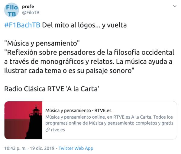 Música y pensamiento - Radio Clasica RTVE