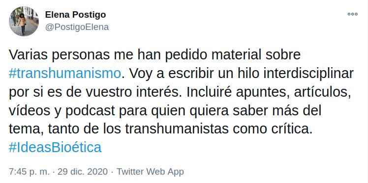 Elena Postigo - Hilo Transhumanismo