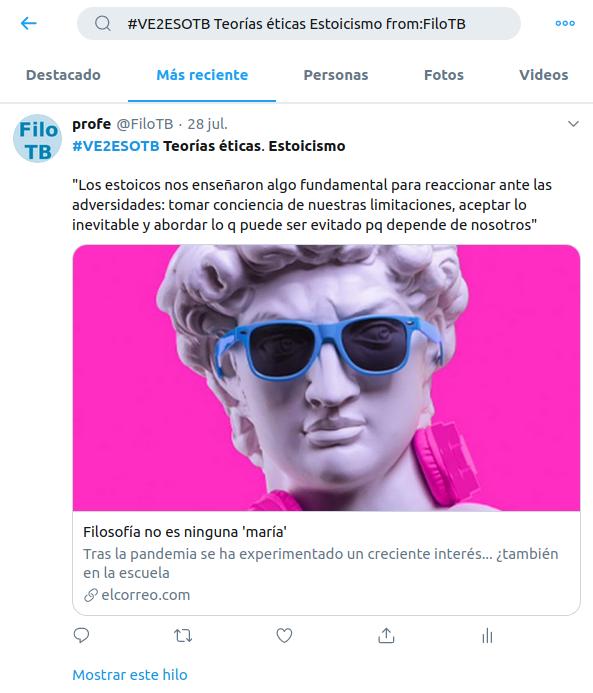 #VE2ESOTB Teorías éticas Estoicismo from:FiloTB (en Twitter)