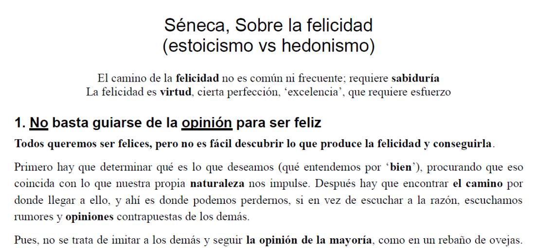 Séneca, Sobre la felicidad: estoicismo vs hedonismo
